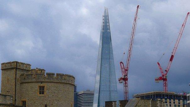 London, Contrast, Architecture, Modern, Old, Skyscraper