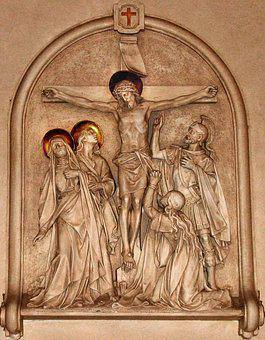 Cross, Station Of The Cross, Crucifixion, Church