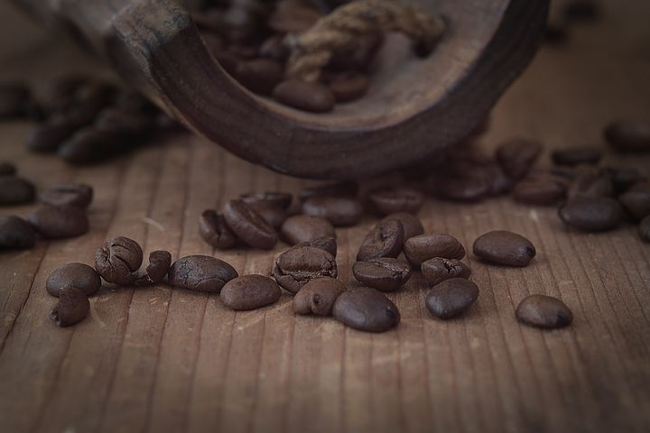 Coffee, Coffee Beans, Brown, Dark, Natural Product