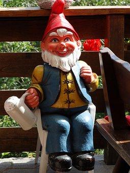 Garden Gnome, Dwarf, Garden Figurines, Fig, Cap