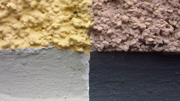 Plaster, Wall, Four Color, Border, Areas, Colorful