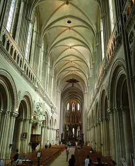 Bayeux, Cathedral, Normandy, Caen, Gothic, Interior