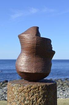 Hodet, By Marcus Raetz, Head, Image, Norway, Coast