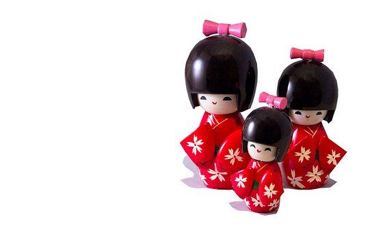 Japanese Dolls, Cut Out, Japanese, Doll, Kokeshi, Asian