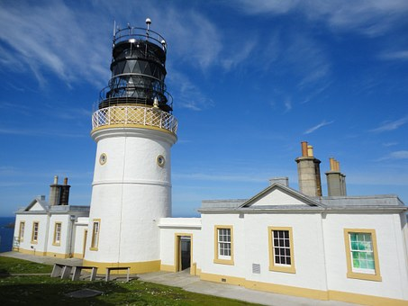Sumburgh Head, Shetland Islands, Scotland, Lighthouse