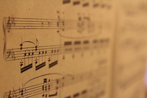 Music, Musical Notes, Score, Map, Pentagram