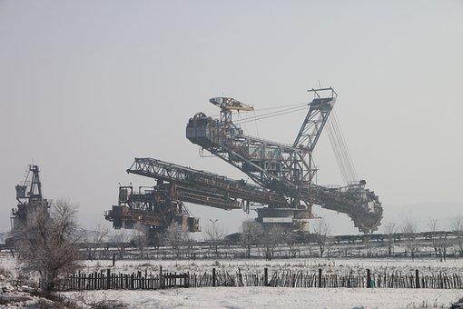 Bucket, Coals, Energy, Equipment, Excavator, Mining