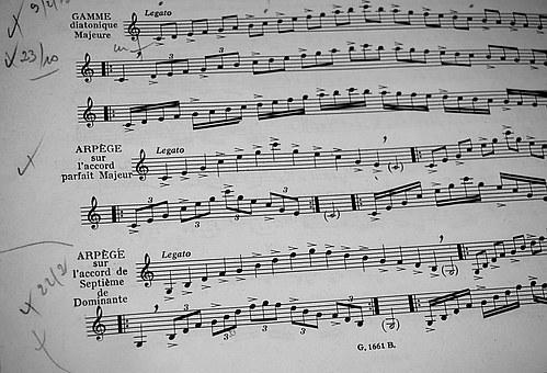 Partition, Music, Black And White, Musical Composition