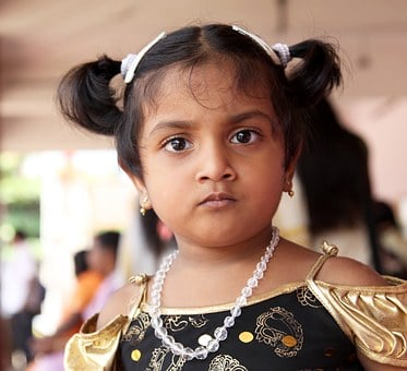 India, Girl, Face, Necklace, Children, Eastern, Child