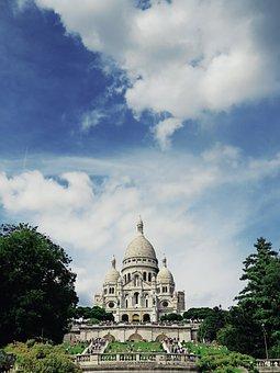 Paris, Sacre Cour, Church, Montmartre, France, Religion