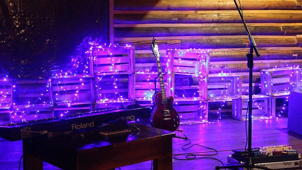 Guitar, Effects, Lights, Piano