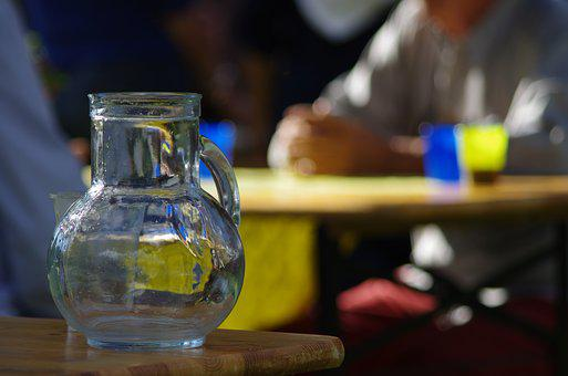 Pitcher, Water, Glass, Carafe, Bar, Yet