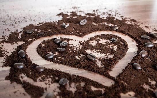 Coffee, Heart, Love, Coffee Beans, Romance, Cafe