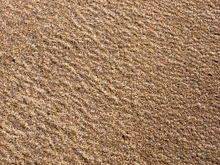 Sandy, Beaches, Lands, Brown, Tiny, Particles