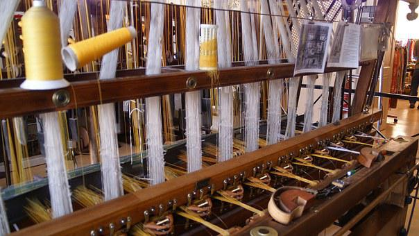 Loom, Silk, Bobbin, Weave, Textile Factory, Fabric