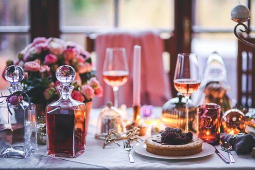 Table, Served, Prepared, Set, Dinner, Meal, Christmas
