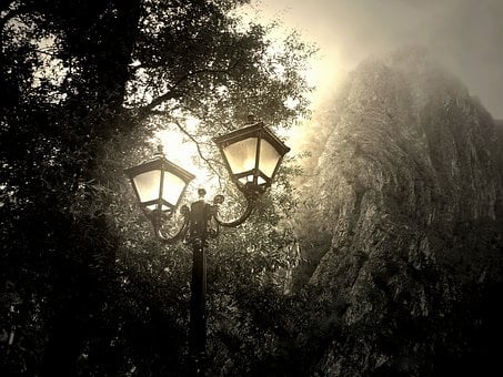 Wallpaper, Mist, Light, Night, Sky, Outdoor, Nature