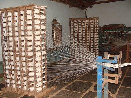 Khadi, Coarse Cloth, Garag, India, Weaving, Yarn Making