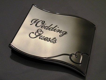Wedding, Guests, Book, Bride, Celebration, People
