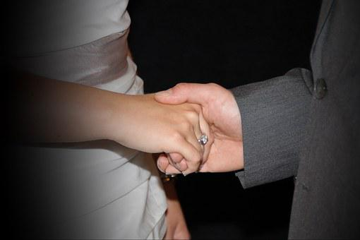 Holding Hands, Wedding, Ring, Wedding Ring, Wife