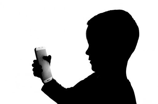 People, White, Phone, Holding, Kid, Player, Side View