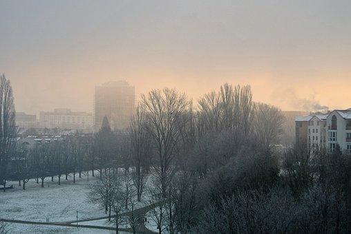 Mist, Fog, Winter, Foggy, Daybreak, Frosty, Cold