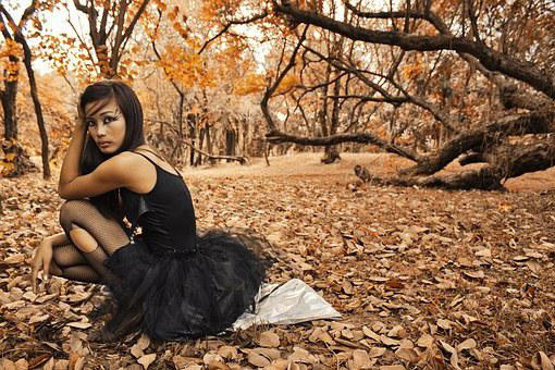 Woman, Girl, Model, Autumn, Leaves, Trees, Nature