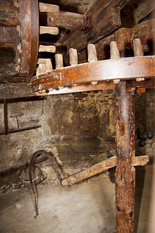 Mill, Historically, Old, Olives, Olive Mill, Wood
