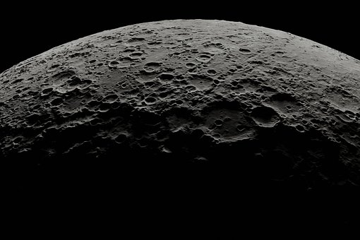 Moon, Craters, Space, Outer Space, Galaxy, Cosmos