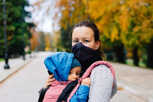 Woman, Child, Face Mask, Covid, Mask, Face, Mother