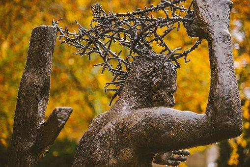 Jesus, Christ, Crown Of Thorns, Cross, Suffering