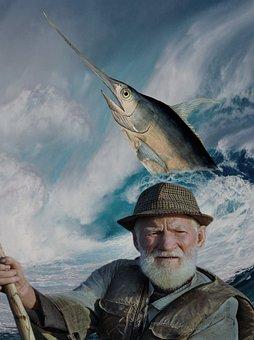 Man, Fish, Ocean, Fisherman, Old Man, Fishing