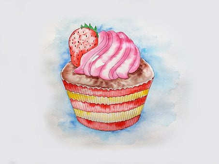 Cupcake, Dessert, Food, Pastry, Baked, Frosting, Icing