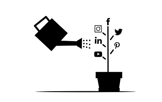 Social Media, Icons, Pot, Flower Pot, Watering Can