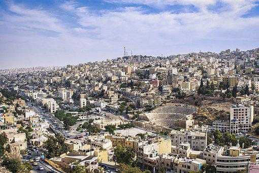Amman, Jordan, City, View, Distant View, Cityscape