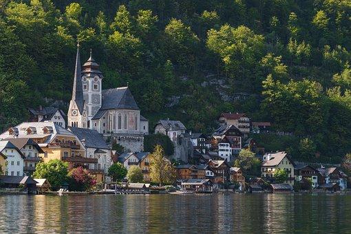 Lake, Town, Buildings, Village, Townscape, Architecture