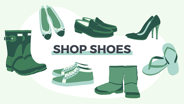 Shoes, Footwear, Online Shop, Logo, Online Shopping