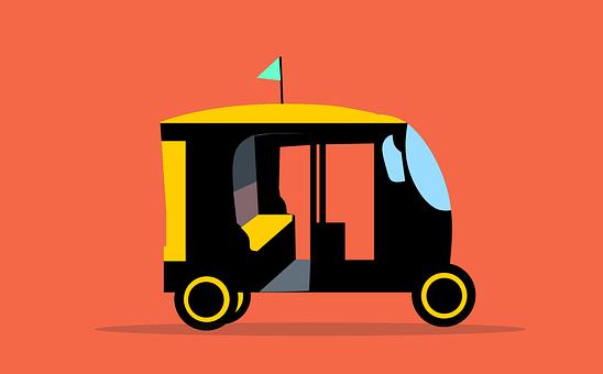 Rickshaw, Tuktuk, Taxi, Auto, Motor, Service, Vehicle