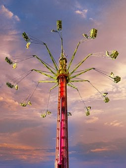 Ride, Amusement Park, Fair, Theme Park, Gondolas, Tower
