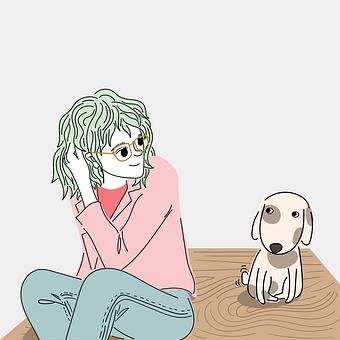 Woman, Dog, Puppy, Friendship, Animal, Pet, Cute, Love