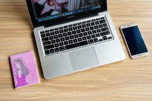 Laptop, Desk, Device, Macbook Pro, Apple