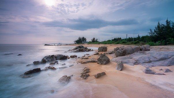 Seascape, Landscape, Wallpaper, Beach, Ocean, Sea, Sand