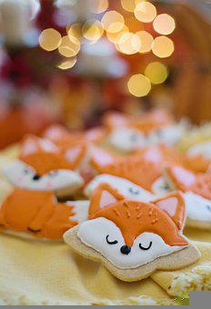 Cookies, Biscuits, Fox Cookies, Royal Icing, Decorated
