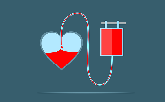 Heart, Blood, Donation, Bag, Donate, Save, Concept