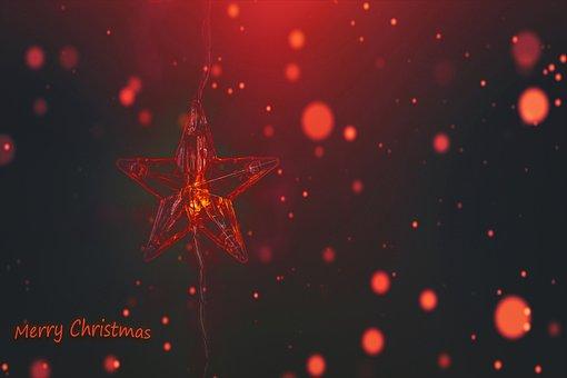 Merry Christmas, Greeting, Star, Card, Christmas Card