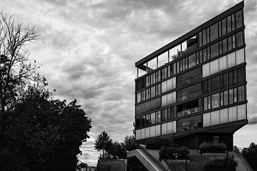 Building, Sky, Clouds, Monochrome, Architecture, City