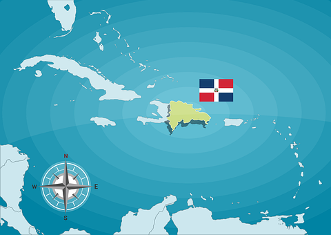 Dominican, Map, Islands, Country, Dominican Republic
