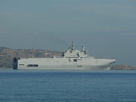 Egyptian Navy Warship, Warship, Sea, Ocean