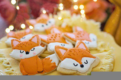 Cookies, Fox Cookies, Royal Icing, Sweets, Decorated