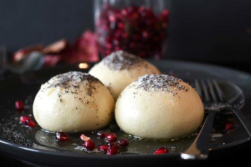Dumplings, Dessert, Dough, Germknödel, Sweetness, Yeast